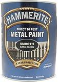 Hammerite 5084893 Direct to Rust Metal Paint 5 L - Smooth Dark Green