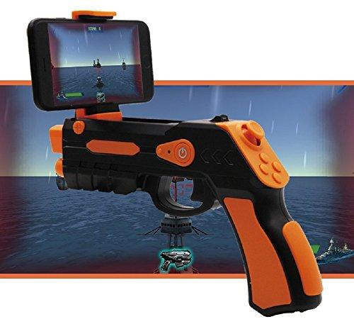 Pistola realidad aumentada AR-Gun® posibilidad juego en pareja app propia con gran variedad de juegos pistola ar gun augmented reality gun pistola ar-gun válida para todos los iphone android naranja