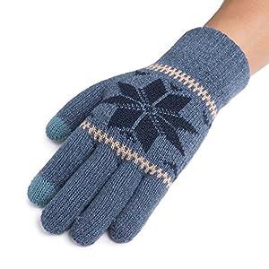 Unbekannt XIAOYAN Handschuhe Männer Handschuhe Reiten Herbst Winter Stricken halten warme Verdickung Touch Screen kompatibel Bequem