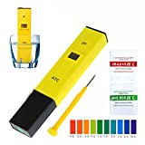 Digital pH-Messgerät LCD Pen Wasser Qualität Tester mit Auto Kalibrierung Funktion 0,1Auflösung Gelb