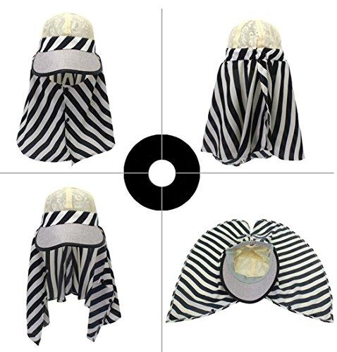 Kuyou - Capeline - Femme noir beige taille unique Noir