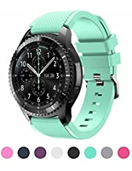 Sunface Samsung Gear S3 Frontier / Classic S3 Watch Armband Teal - Silikon Sportarmband Uhr Band Strap Erstatzband Uhrenarmband für Samsung Gear S3 Classic Samrtwatch