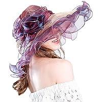 Yiwuhu Dazzle Color Gauze Cap Señora Summer Mixed Color Sombrero de protección Solar. Simple