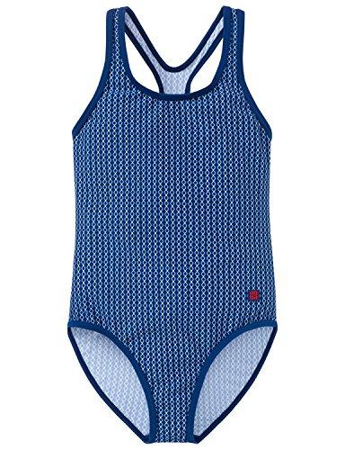 Schiesser Mädchen Badeanzug, Blau (Indigo 824), 176
