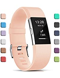 Gogoings para Correa Fitbit Charge 2 Pulsera Ajustable Correa de Reemplazo Deportivo Compatible con Fitbit Charge2 para Mujeres…
