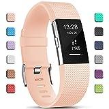 Gogoings para Correa Fitbit Charge 2 Pulsera Ajustable Correa de Reemplazo Deportivo Compatible con Fitbit Charge2 para Mujeres Hombres (Sin Reloj)