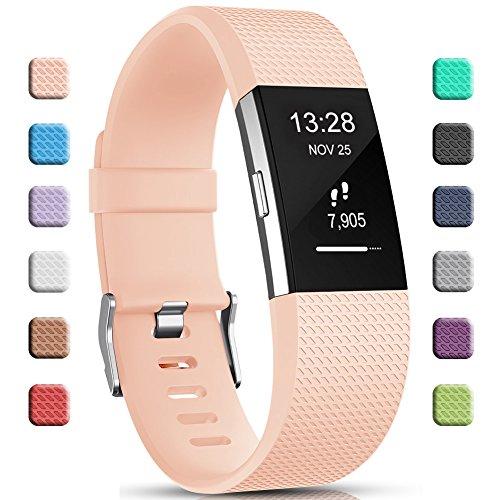 Gogoings Cinturini Fitbit Charge 2 - Braccialetto di Ricambio Morbido Regolabile in TPU per Fitbit Charge 2 Sportivo per Donne e Uomini (Senza Orologio)