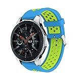 BZLine Armband | Doppelte Farbe Sport Silikon Uhrenarmband | Für Samsung Galaxy Watch 42mm 46mm | Schnellspanner | Hand