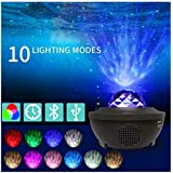 LED galaxy Projector Light Starry Night Lamp Star Sky Cosmos Night Light Gift - Night Light Projector Ocean Wave Projector Star Projector Night Light Projector with Bluetooth Music Speaker for Bedroom