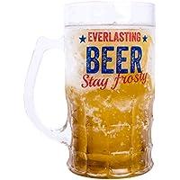 Vaso de cerveza Everlasting - Novedad congelador cerveza de acero.