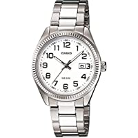 Casio Women's White Dial Stainless Steel Band Watch - LTP-1302D-7B