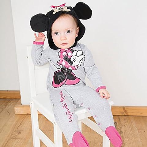 Minnie Mouse Strampler mit Mütze Babykostüm 0-3 Monate / 64cm