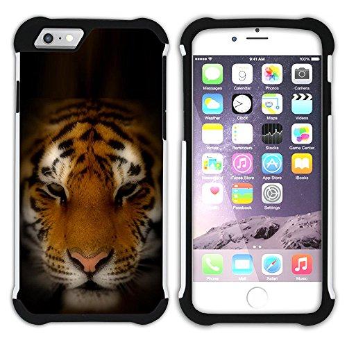 Graphic4You Multicolor Tigers Design Hart + Weiche Kratzfeste Hülle Case Schale Tasche Schutzhülle für Apple iPhone 6 / 6S Design #5