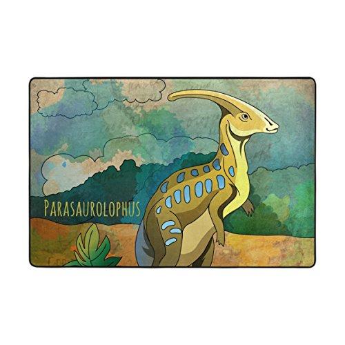 Bennigiry Cartoon Dinosaur Bereich Teppich Super Soft Polyester Große Rutschfeste Modern Bad-Teppiche für Schlafzimmer Wohnzimmer Hall Abendessen Tisch Home Decor 182 x 122 cm,72 x 48 inch - 72 Läufer 24 Teppich