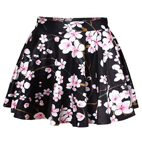 Leichte Rosa Kirschblüten Rock Frauen Klassische Kleine Schwarze Kleid (Kleid Kleine Rock Damen)