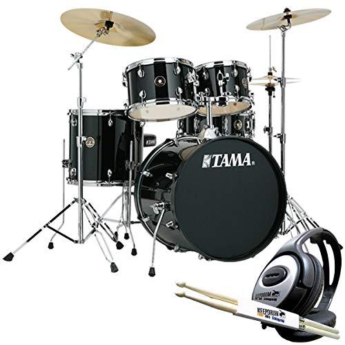 Tama RM50YH6-BK Rhythm Mate Schlagzeug + keepdrum Kopfhörer u. Sticks (Ride-becken Mit Ständer)