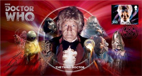 Dr Doctor Who BBC Offizielle 50th Anniversary Limited Edition Katy Manning Unterzeichnet Ersttagsbrief - Der Dritte Doktor - Jon Pertwee -