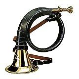 Fritz Uomo Corno da caccia con similpelle umwick Lung Signal Horn ottone Caccia Horn Ruf Horn Cacciatore, disponibile in diverse misure, Ohne Stimmzug, S