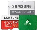 128 GO Carte mémoire Micro-SD Evo Plus 128GB pour téléphones Mobiles Samsung S7, S7+, S8, S8+,...