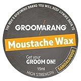 Groomarang Schnurrbart & Bart Wachs extrastarke Sandelholz 100 % natürliche Haarpflege Bio & Vegan...