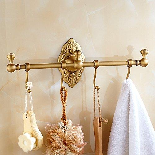 r Messing Vintage Badezimmer Dusche Organisation Mit Haken Goldene Villa Handtuchhalter Halter ()