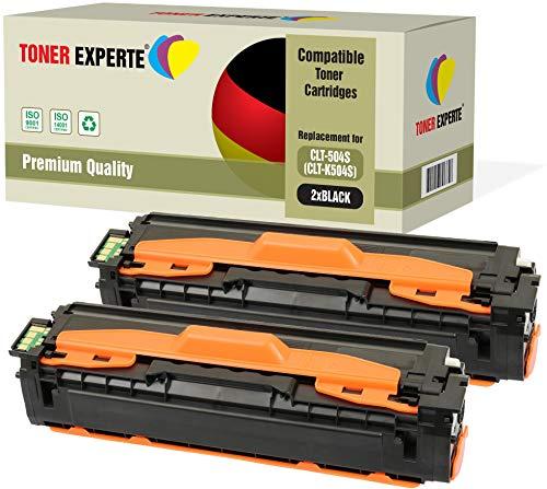 2er Pack TONER EXPERTE® Schwarz Premium Toner kompatibel zu CLT-K504S für Samsung Xpress SL-C1810W, SL-C1860FW, CLX-4195FN, CLX-4195N, CLX-4195FW, CLP-415N, CLP-415NW - 2er-pack Samsung