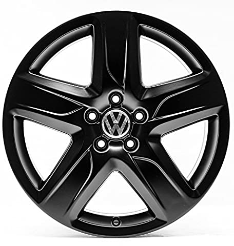 VW Golf 7 5G VII Alltrack 18 Zoll Alufelgen Original Audi OE OEM Felgen 4G9-C (Schwarz seidenmatt)