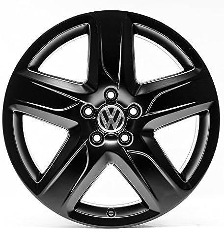 VW Golf 7 5G VII 18 Zoll Alufelgen Original Audi OE OEM Felgen 4G9-C (Schwarz seidenmatt)