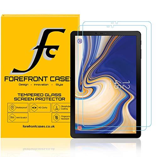 Forefront Cases Samsung Galaxy Tab S4 10.5 Proteggi Schermo in Vetro Temperato [2 PACCO] | Antishock, Anti-Impronte Digitali e 9H Antigraffio | HD Qualità Ultra-Sottile 0.3mm & Alta Reattività