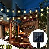 iihome ZEM 50 Luces Solares de la Cadena, a Prueba de Agua 6.7m de Jardín Iluminación Solar con forma de Bola de Cristal de Navidad