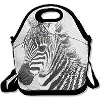 Preisvergleich für Leicht Isolierte Lunch Tasche Zebra auf die Grasland 3D Tier Prints Picknick Lunch Tote Isolierte Lunch Box Food Container Lunch Tasche für Frauen
