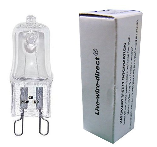 live-wire-direct 10 x 25W G9 Halogen Light Bulbs Clear Dimmable Capsule 240V Watt