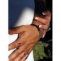 Trauerarmband für MÄNNER mit Ihrer persönlichen Gravur 925-Silber, BOLO Lederarmband