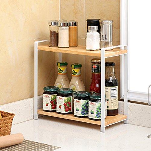 Scaffali da cucina Rack da cucina in legno massello Rack da cucina a ...