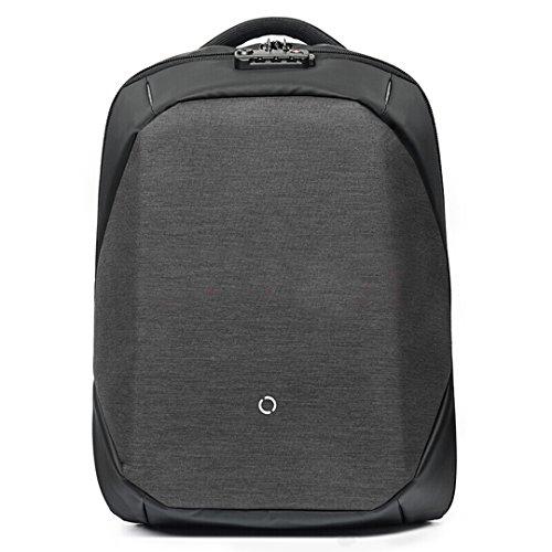 ClickPack Rucksack Design von Korin, Business Laptop Rucksäcke Anti Thief Travel Bag passt bis zu 15,4 Zoll Macbook (Rucksack nur, schwarz)
