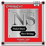 chromacast cc-bs-ns-ml vernickelt Bass Gitarre Saiten, Custom, Medium Light, 1Pack
