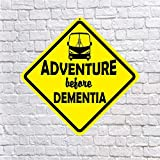 Dozili Adventure Avant démence–Qualité en Aluminium Panneau Classe A RV Camper Feu de Camp pour Camping-Car Camping Décoration Décor Cadeau Funny