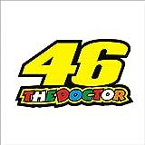 #7: isee360 Reflective 46 The Doctor Sticker, Bike ,Tank,Sides, Helmet, Car Windows, Rear, Sides, Hood, Bumper Sportive Sticker