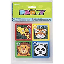 Unique Party -  Regalitos para Fiesta - Rompecabezas Deslizantes de Animales - Paquete de 10 (86931)