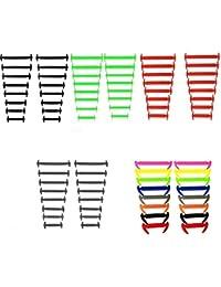 Cordones elásticos planos del zapato del silicón, ningunos lazos impermeables del cordón para los cabritos y los adultos