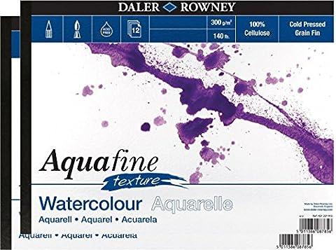 2x bloc aquarelle Aquafine Texture (A4)