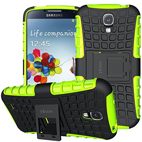 Ein Für Handy-hülle S4 Galaxy (Galaxy S4 Hülle,ykooe (TPU Series) Samsung S4 Dual Layer Hybrid Handyhülle Drop Resistance Handys Schutz Hülle für Samsung Galaxy S4 (NICHT mit S4 Mini zu verwenden) Grün)