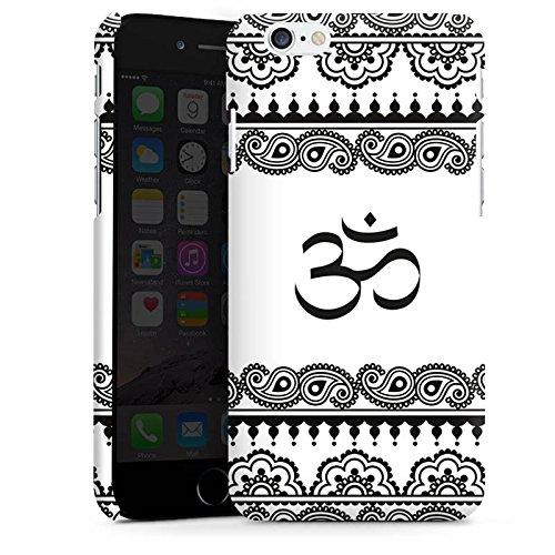 Apple iPhone X Silikon Hülle Case Schutzhülle Mandala Henna Yoga Premium Case matt