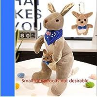 Cute Australian Kangaroo Plush Toy Doll Doll Baby Mother Child Gift Kangaroo No.3: 38Cm High Light Grey Blue Scarf (Small Kangaroo Not Desirable)