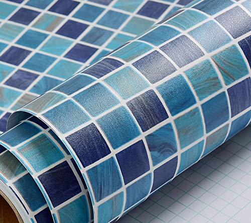Textur Einfügen (Jhtadva Badezimmer Mosaik Tapete Bad WC Fliesen Aufkleber wasserdicht Wandaufkleber Küche Öl Aufkleber, E, 45cm * 3m)