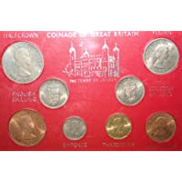Monete di gran Bretagna torre di Londra collezionisti set Crown Half Crown Florin scellino mezzo Penny Penny Farthing collezionisti monete