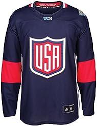 Equipo EE. UU. 2016Copa del Mundo de Hockey hombres de Adidas Premier azul Jersey