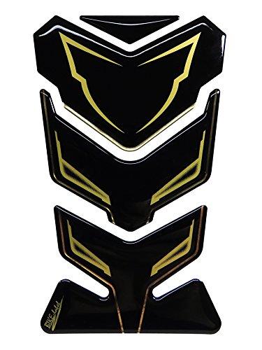 Tankpad 3D 502200 Gold Stripe Black Tank-Schutz passend für Yamaha FZ 800