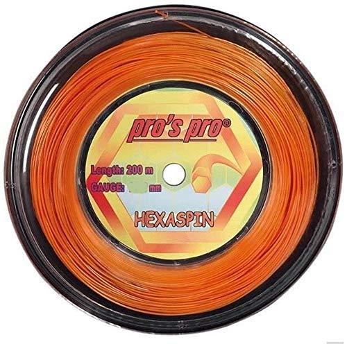 Pro Tennissaite Hexaspin 200m für Topspin 1.25mm orange