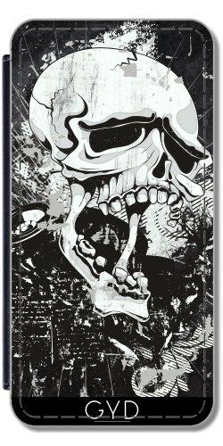 Leder Flip Case Tasche Hülle für Apple iPhone 5C - Dunkle Gotische Schädel- by Gatterwe Lederoptik
